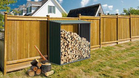 G21 WOH Přístřešek na dřevo 136 - 182 x 75 cm, zelený
