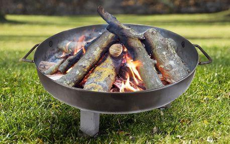 Přenosné zahradní ohniště z nerezu, ⌀ 55–65cm