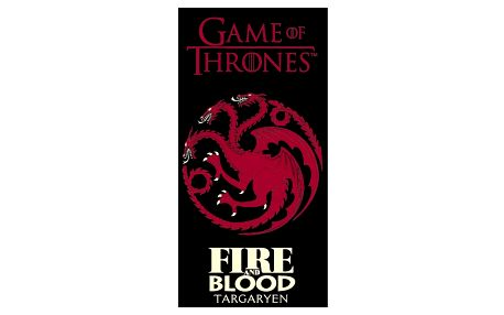 TipTrade Osuška Game of Thrones Fire and Blood, 70 x 140 cm