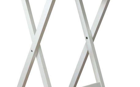 Skládací stolek dřevěný, bílá