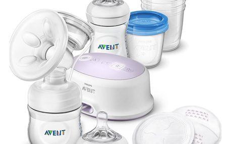 AVENT Odsávačka mateřského mléka Natural elektrická – sada pro kojení nová