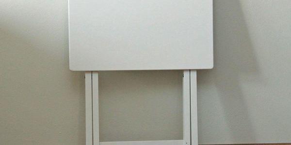 Skládací stolek dřevěný, bílá4