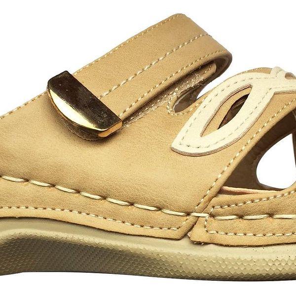 Dámské pantofle Koka   Velikost: 36   Krémová4