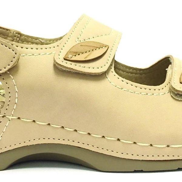 Dámské pantofle Koka   Velikost: 36   Krémová5