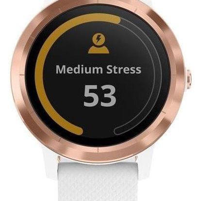 Chytré hodinky Garmin vívoActive3 Optic bílé/zlaté (010-01769-07)