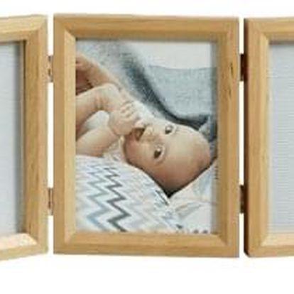 BABY ART Dvojitý rámeček na otisky + foto – Honey