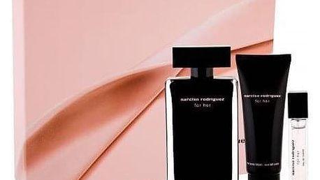 Narciso Rodriguez For Her dárková kazeta pro ženy toaletní voda 100 ml + tělové mléko 75 ml + toaletní voda 10 ml