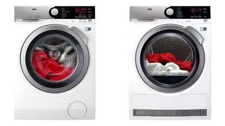 Set (Automatická pračka AEG ProSteam® L7FEE48SC) + (Sušička prádla AEG AbsoluteCare® T8DEE48SC) + DOPRAVA ZDARMA