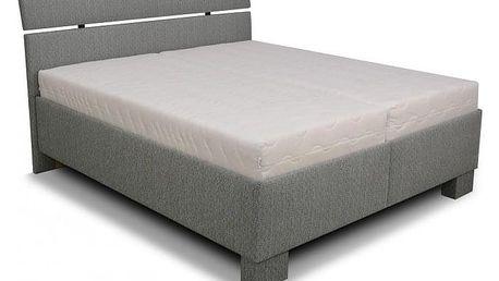 Čalouněná postel Antares 180x200 cm, šedá, s úložným prostorem