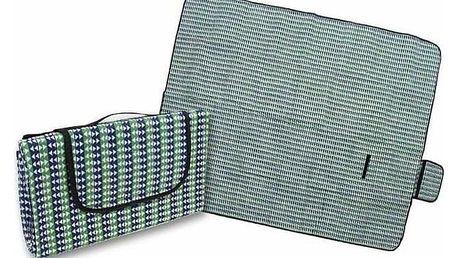 Pikniková deka zeleno modrá