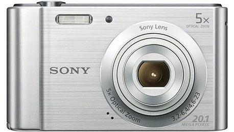 Digitální fotoaparát Sony DSC-W800S stříbrný