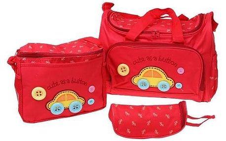 Přebalovací taška set 3 ks červená