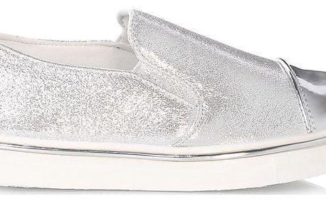 Cosmos Třpytivé módní tenisky stříbrné LEB-80SI Velikost: 39 (24 cm)