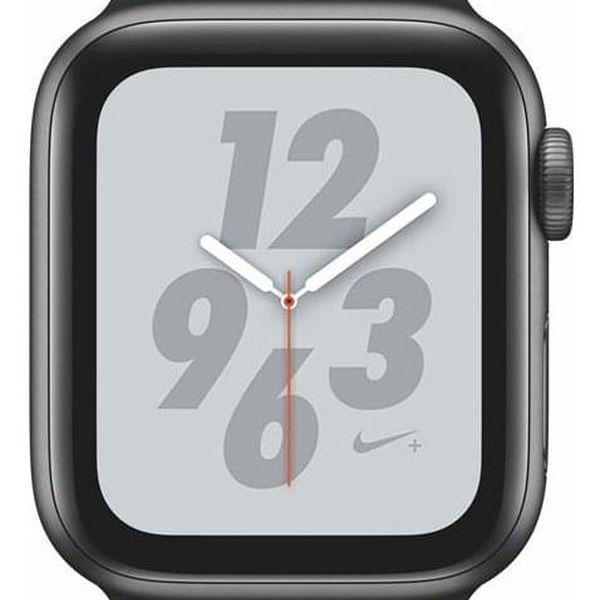Apple Watch Nike+ Series 4 GPS 40mm pouzdro z vesmírně šedého hliníku - antracitový/černý sportovní řemínek Nike (MU6J2HC/A)
