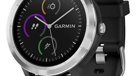 Chytré hodinky Garmin vívoActive3 Optic černé/stříbrné (010-01769-02)