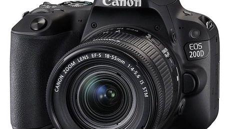 Digitální fotoaparát Canon EOS 200D + 18-55 IS STM černý (2250C002)