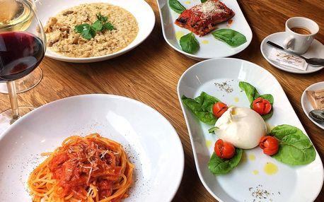 Pravé italské menu podle výběru pro 2 osoby