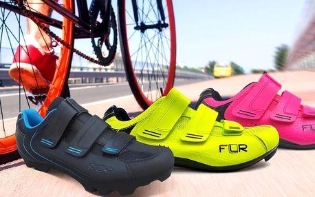 Cyklistické tretry značky FLR na suchý zip
