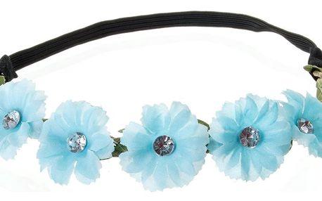 Fashion Icon Čelenka do vlasů květiny s krystalkem