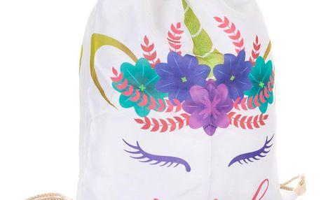 Fashion Icon Sáček na přezůvky - vak Sweet Candy jednorožec a plameňák