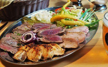 Mísa steaků pro až 4 osoby: 4 druhy masa, zelenina