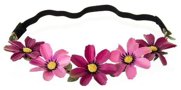 Fashion Icon Čelenka do vlasů květiny měkká