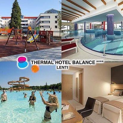 Lenti v novém Thermal Hotel Balance **** propojeném s termálními lázněmi, Lenti, Maďarsko
