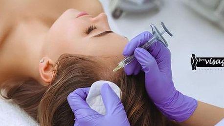 Ošetření pro růst vlasů: injekční aplikace koktejlu a maska