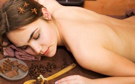 Čokoládová aroma masáž zad, šíje, nohou i obličeje