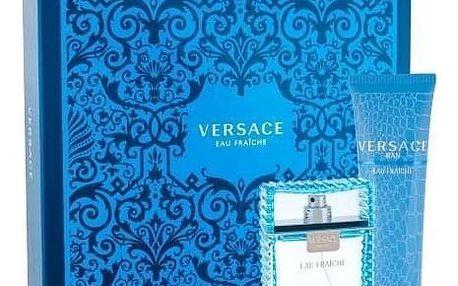 Versace Man Eau Fraiche dárková kazeta pro muže toaletní voda 100ml + sprchový gel 150 ml