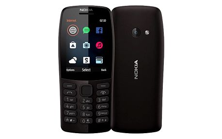 Mobilní telefon Nokia 210 Dual SIM černý (16OTRB01A04)