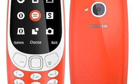 Mobilní telefon Nokia 3310 (2017) Single SIM červený (A00028219)