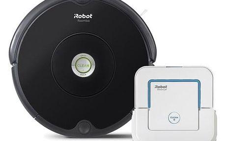 Vysavač robotický iRobot Roomba 606 + Braava jet 240 černý