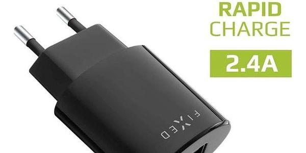 Nabíječka do sítě FIXED 1x USB, 2,4A + Lightning kabel černá (FIXC-UL-BK)2