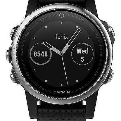 Garmin Fenix 5S černé/stříbrné (010-01685-02)