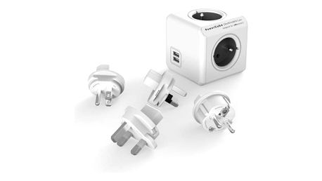 Powercube Rewirable USB + Travel Plugs - šedý šedý (456308)