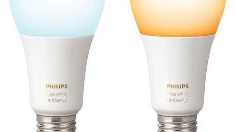 Philips Hue 9,5W, E27, White Ambiance (2ks) (8718696729083)