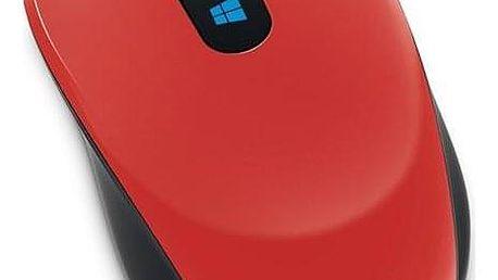 Microsoft Sculpt Mobile červená / BlueTrack / 3 tlačítka / 1000dpi (43U-00026)