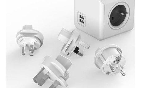Powercube Rewirable USB + Travel Plugs - šedý šedý (456308)