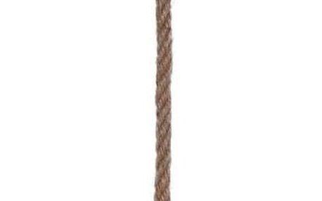 Umělý sukulent v závěsné skleněné baňce, 15 cm