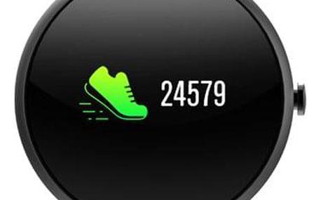 Fitness náramek iGET FIT F4 černý (84000430)