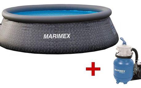 Marimex | Bazén Tampa 3,66x0,91 m s filtrací - motiv RATAN | 19900082
