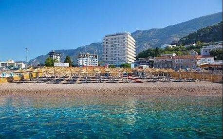 Dovolená v Černé Hoře v hotelu Sato**** s polopenzí přímo u Jadranu