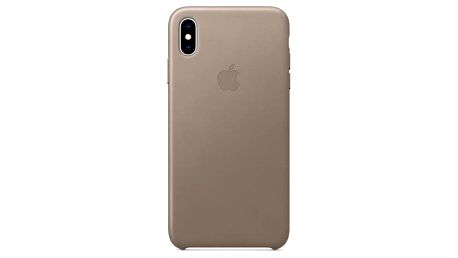 Apple Leather Case pro iPhone Xs Max - kouřový (MRWR2ZM/A)