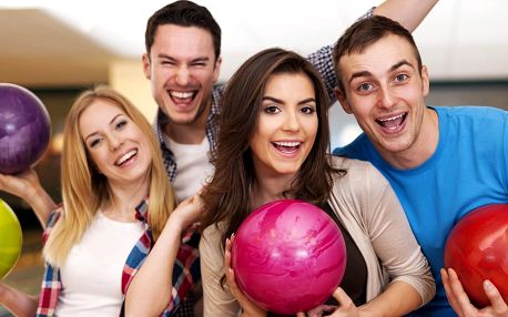 Hodina bowlingu až 8 osob včetně 400 g žebírek