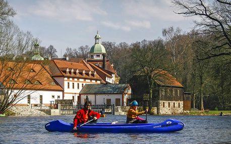 Dobrodružství na řece Nise: kánoe i koloběžky