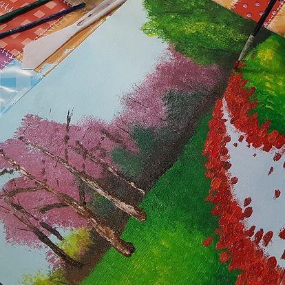 Víkendový kurz malby akrylem pro 1–2 osoby