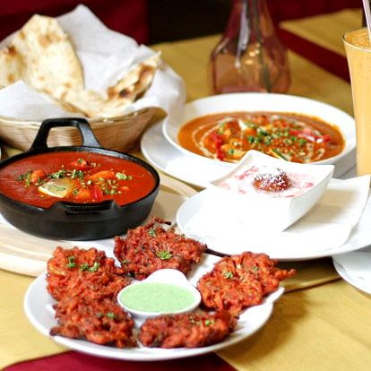 Tříchodové indické menu pro 2 nebo 4 osoby