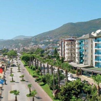 Turecko, Alanya, letecky na 8 dní all inclusive