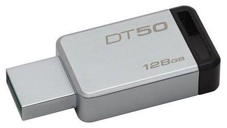 Kingston DataTraveler 50 128GB černý/kovový (DT50/128GB)